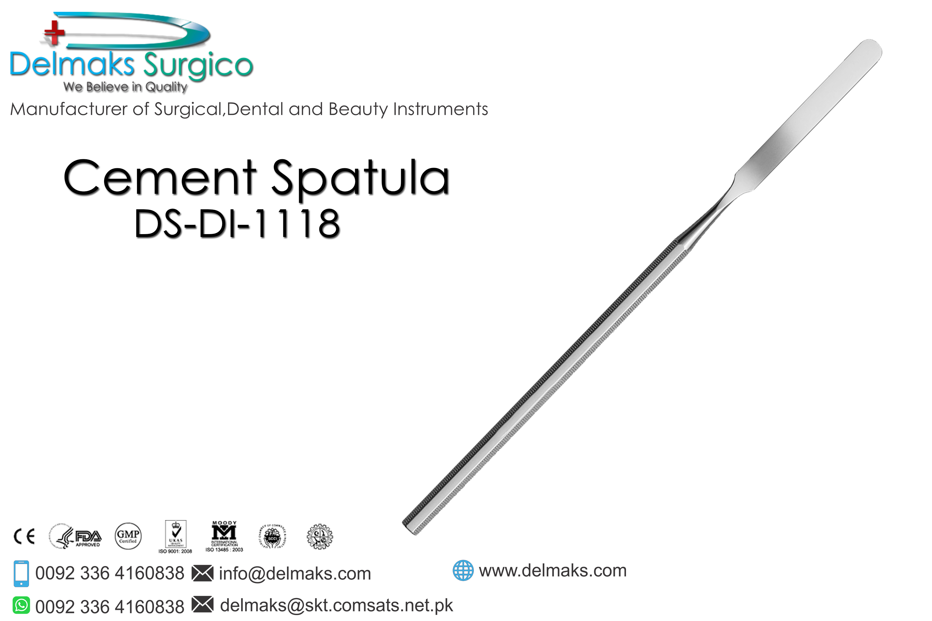 Cement Spatula-Crown And Bridge(Fixed Prosthodontics) Instruments-Dental Instruments-Delmaks Surgico