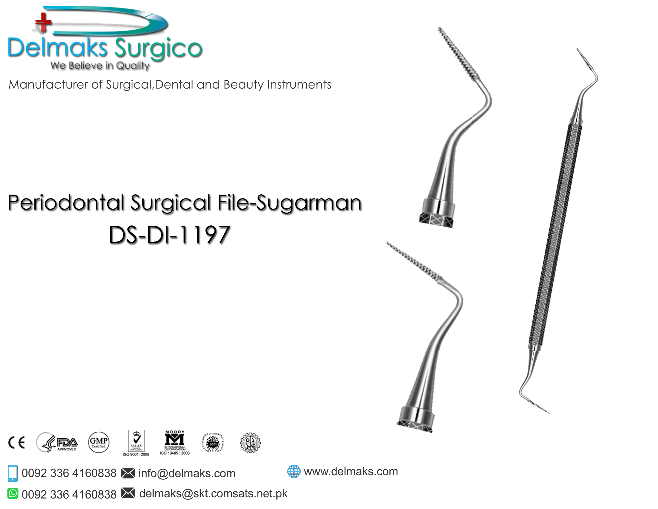 Periodontal Surgical File-Sugraman-Dental Instruments-Delmaks Surgico