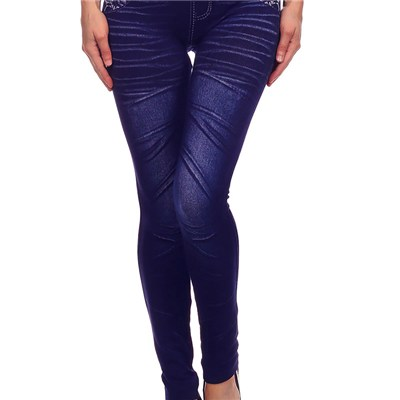 Winter Jeggings Light Fleece Faux Denim Leggings