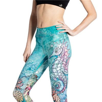 Seahorse Digital Printing Yoga Leggings