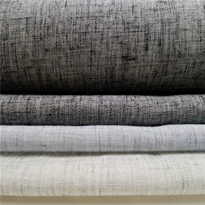 Polyester Linen Blends With Yarn Dye Heather Looking