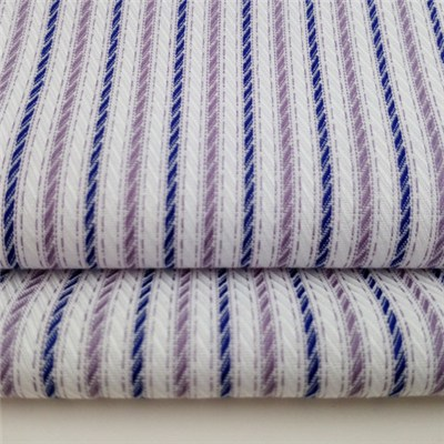 Textured Cotton Linen Stripe With Wrinkle Free For Business Shirts