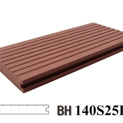 Solid High Quality WPC Decking Floor For Walking Street 140X25B