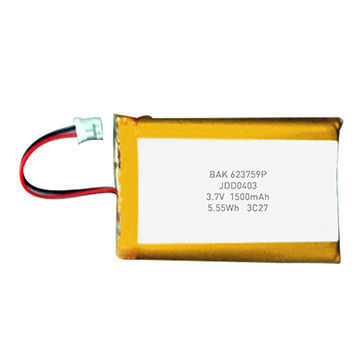 China A Grade Lithium Ion Polymer Battery Pack 3.7V 1500mAh Accept Customization