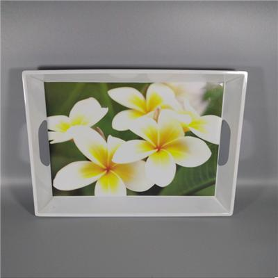 Cheap Floral Small Melamine Rectangular Tray Suppliers