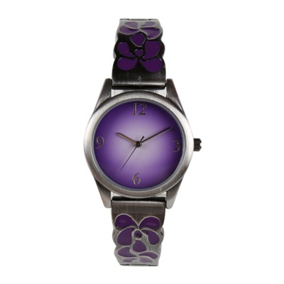 Custom Elegant Vintage Purple Color Ladies Dress Watches