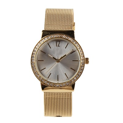 Stainless Steel Mesh Band Dress Watch For Women Customization