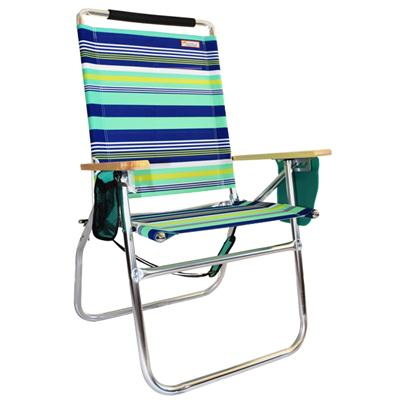 Favoroutdoor Aluminum Beach Chair With 18 Inches High Seat Big Tycoon Beach Chair