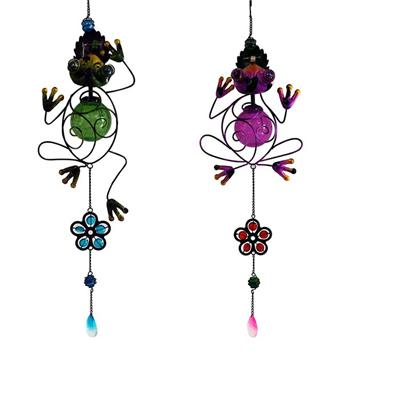 Glass/Copper Bells/Frog Metal/Aeolian Bells Glass Gifts/ The Frog Chimes Outdoor Living Garden Home Décor