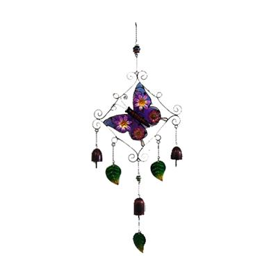 Metal Glass Church Bells Butterfly Wind Chime Hanging Garden Yard Windchimes
