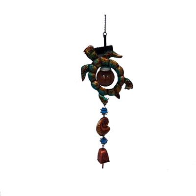 Glass/Copper Bells/Sea Turtle/crab/sea Horse/Metal/Bells Glass Gifts/ The Marine Animals Chimes Solar Outdoor Living Garden Home Décor