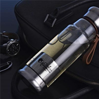 China Suppliers 500ml Glass Water Bottle With Filter