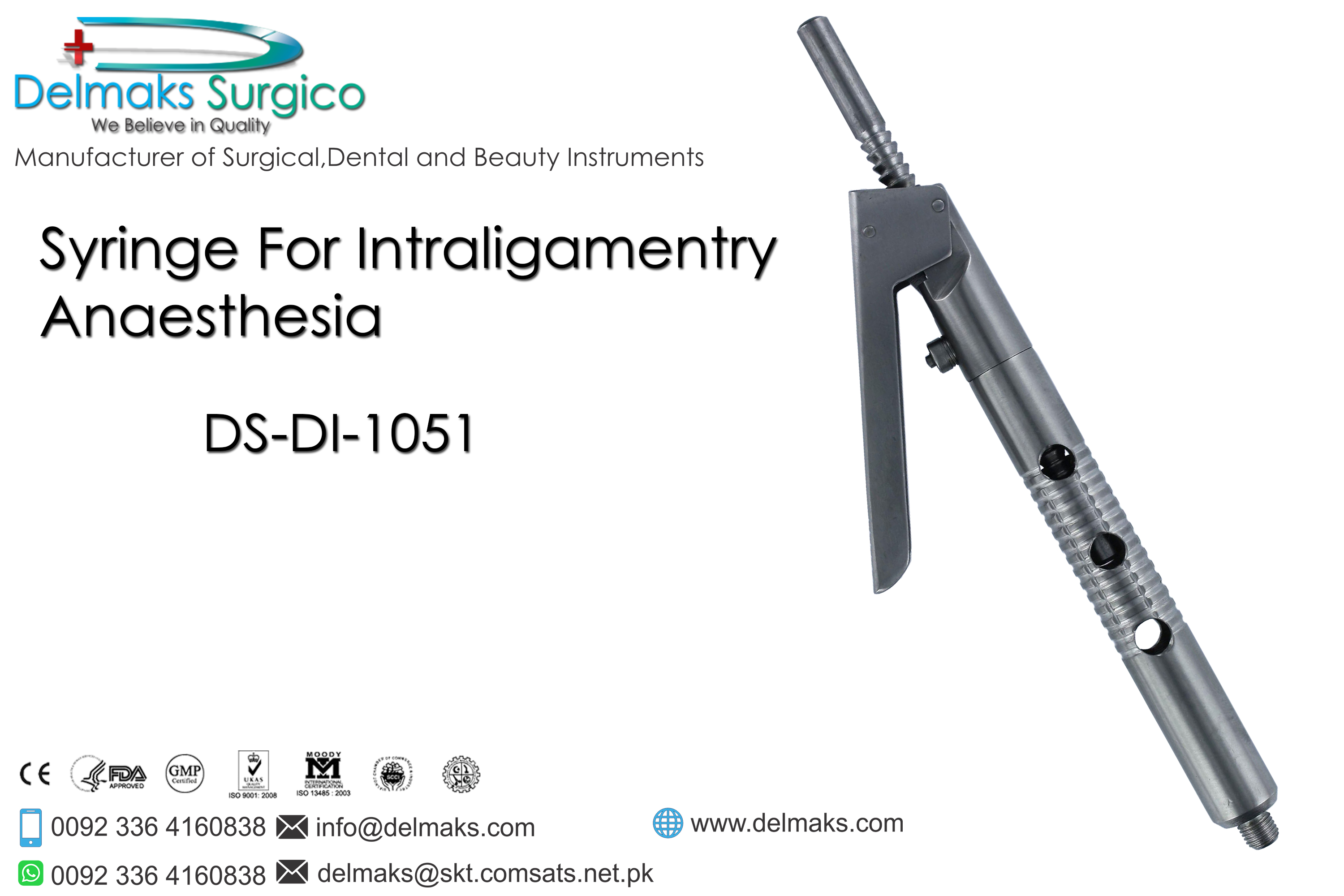Syringe For Intraligamentry Anaesthesia-Dental Syringes-Dental Instruments-Delmaks Surgico