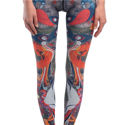 Pair Of Lovebirds High Waist Workout Leggings