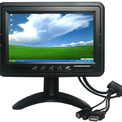 7-inch Multi-touch Capacitive Screen Monitor with Lux Auto Brightness and IO Interface