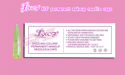XCF PERMANENT MAKEUP TATTOOING NEEDLE CAP EYEBROW NEEDLE CAP DAZZLING COLORS GROUP