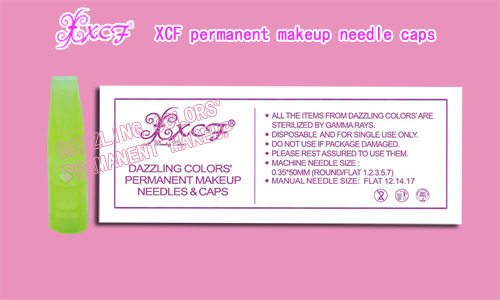 XCF PERMANENT MAKEUP TATTOOING NEEDLE CAP EYEBROW NEEDLE CAP