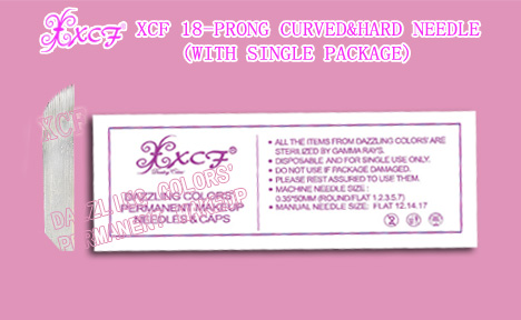 XCF PERMANENT MAKEUP XCF  CURVED&HARD NEEDLE(WITH SINGLE PACKAGE) DAZZLING COLORS GROUP