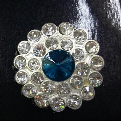 Rhinestone Charm Chunk Snap Button Fit For Noosa Bracelet