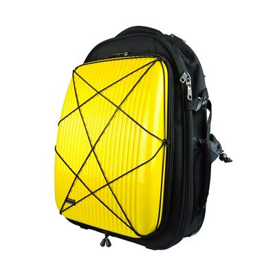 Foldable ABS Luggage and Yellow Polyester Trolley Bag  Stylish School Bag with Two Luggage Wheels