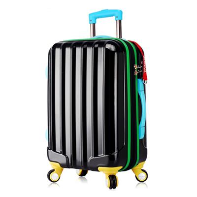 Functional Rainbow PC Luggage Suitcase Popular in 2016 with Suitcase Online