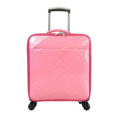 Pink PU Leather of Cabin Luggage for Girls Better Than Tiny Messenger Bag