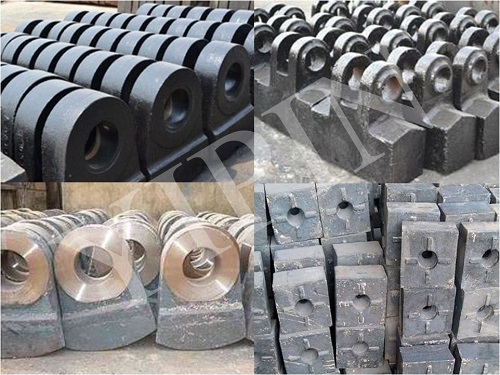 High manganese steel casted wear-resistant accessories of the semi-automatic ball mill