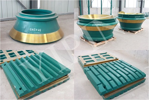 high manganese cone crusher bowl liner cone crusher mantle and concave for Metso, Sandvic, Terex, Finlay, Symons crushers