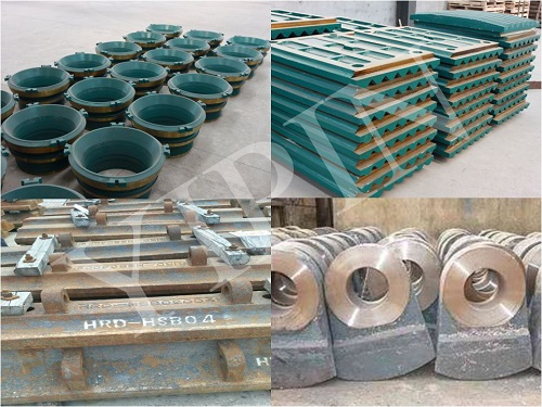high manganese wear-resistant cone crusher and jaw crusher spare parts