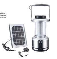 Portable solar lantern for outdoor travel or camping
