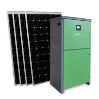 Off-grid solar power system for remote area or backup power source