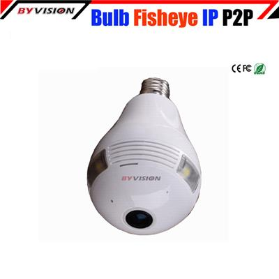 Smart Wireless Bulb Camera Fisheye Ip Camera