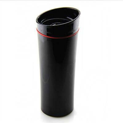 H621 430ML AS Double Wall Coffee Mug Sliding Lid Plastic Water Bottle Vacuum Insulated Bottle
