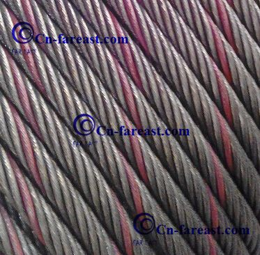 Color Strand Ungalvanized Steel Wire Rope 6*25fi