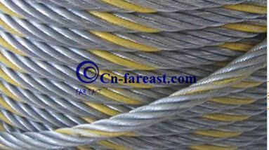 Color Strand Galvanized Steel Wire Rope 6*36