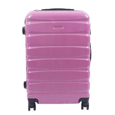 Color Pink Horizontal Grain-luggage Bag With 360° Wheels