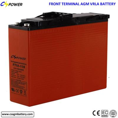 12V105Ah Front Terminal Lead Acid Battery For Telecom