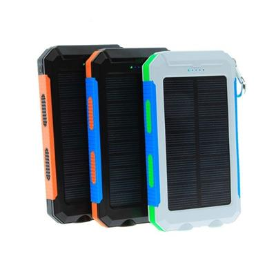 EPT	Fashion Design Dual LED Light Solar Power Bank Mobile Charger 10000mah With Compass