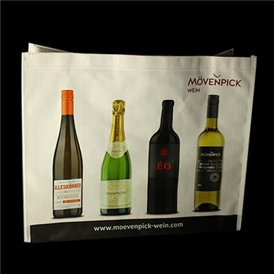 Recyclable Flat Folding Collapsible Laminated Pp Woven Wine Cooler Bag