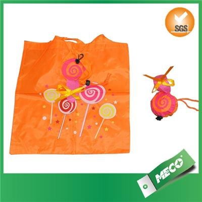 New Recycle Polyester Strawberry Shape Folding Drawstring Bag