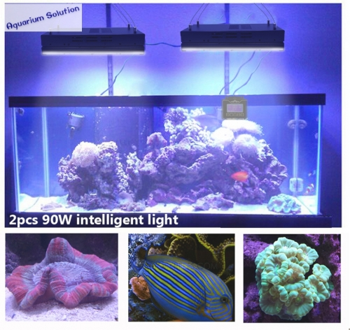 Dsuny programmable full spectrum led aquarium lighting with dimmable timer