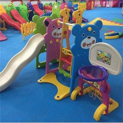 Child Bear Slide,ball Pool And Swing Combination