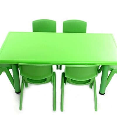 6 Seater Classroom Kids Plastic Rectangle Table And Chair Set