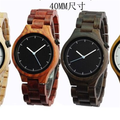 Custom Sandalwood Water Resistance Unisex Wooden Watch