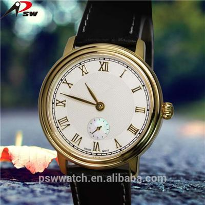 2016 Luxury Mens Watches Leather Stainless Steel Watch