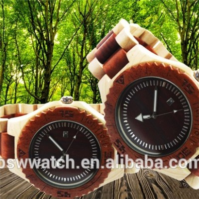 2016 New design your brand logo wooden watches high quality wood watch