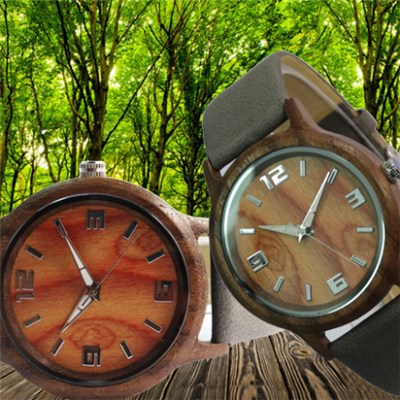 Fashion Leather Band Wooden Watch Supplier and Manufacturer