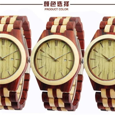 High Quality Best Selling Fashion Classical Unique Wooden Watch Wood Grain Watches