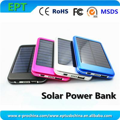 EP-P-S001 New 6000mAh Solar Power Bank Solar Panel Charger Kit With LED Light