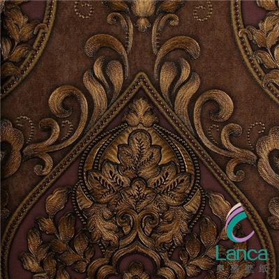 China Factory Good Design Pvc Embossed Classic Decorative Wallpaper For Restaurant LCPE0831606